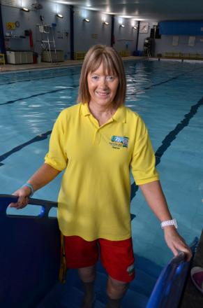 WAVE GOODBYE: Popular lifeguard and swimming teacher Gaynor Almond is retiring as lifeguard at Milford Haven Leisure Centre. (5464473)