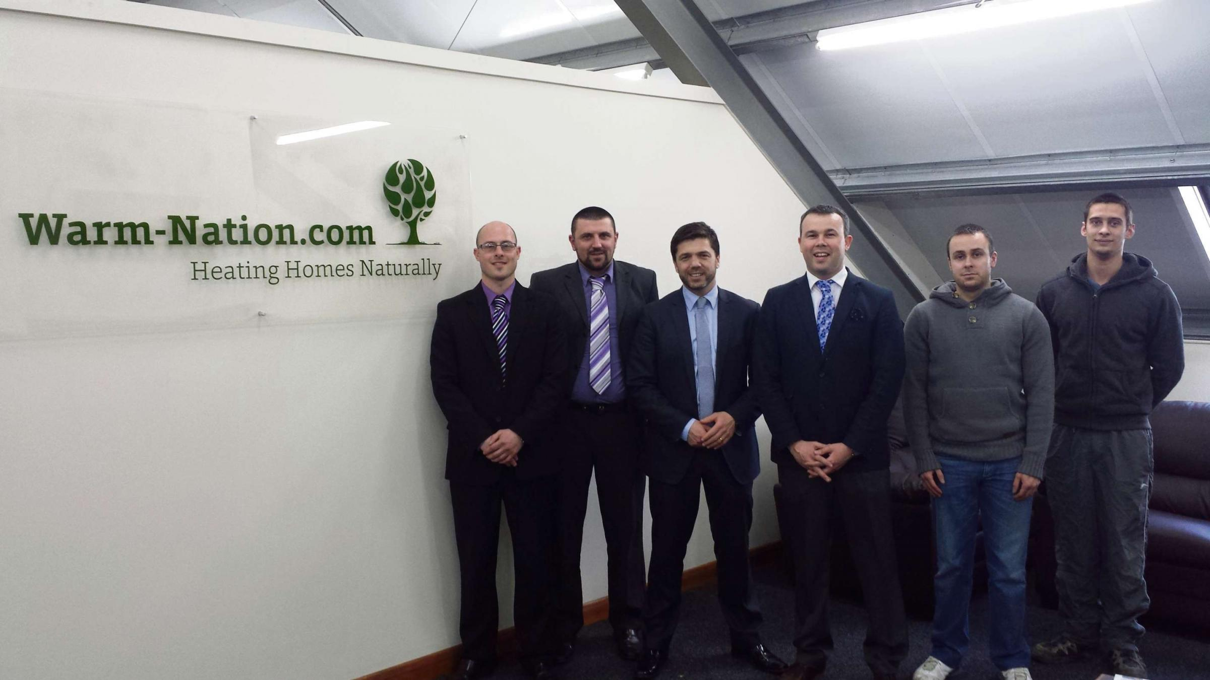 FUELLING THE ECONOMY: Preseli Pembrokeshire MP Stephen Crabb on his visit to Warm Nation, Fishguard. (5511703)