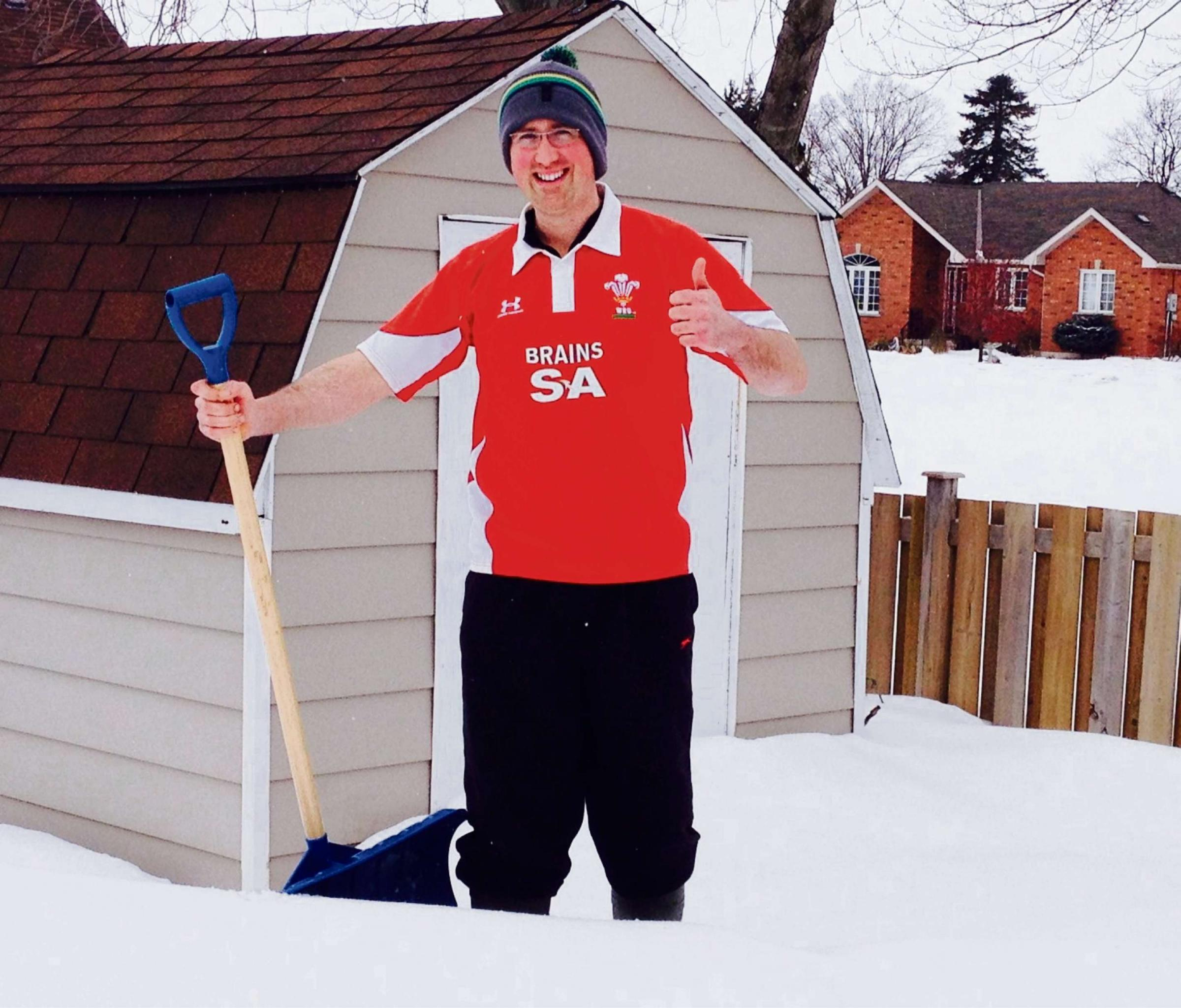 SNOW BUSINESS: Will Morris is really enjoying his new life in Canada. (5634485)