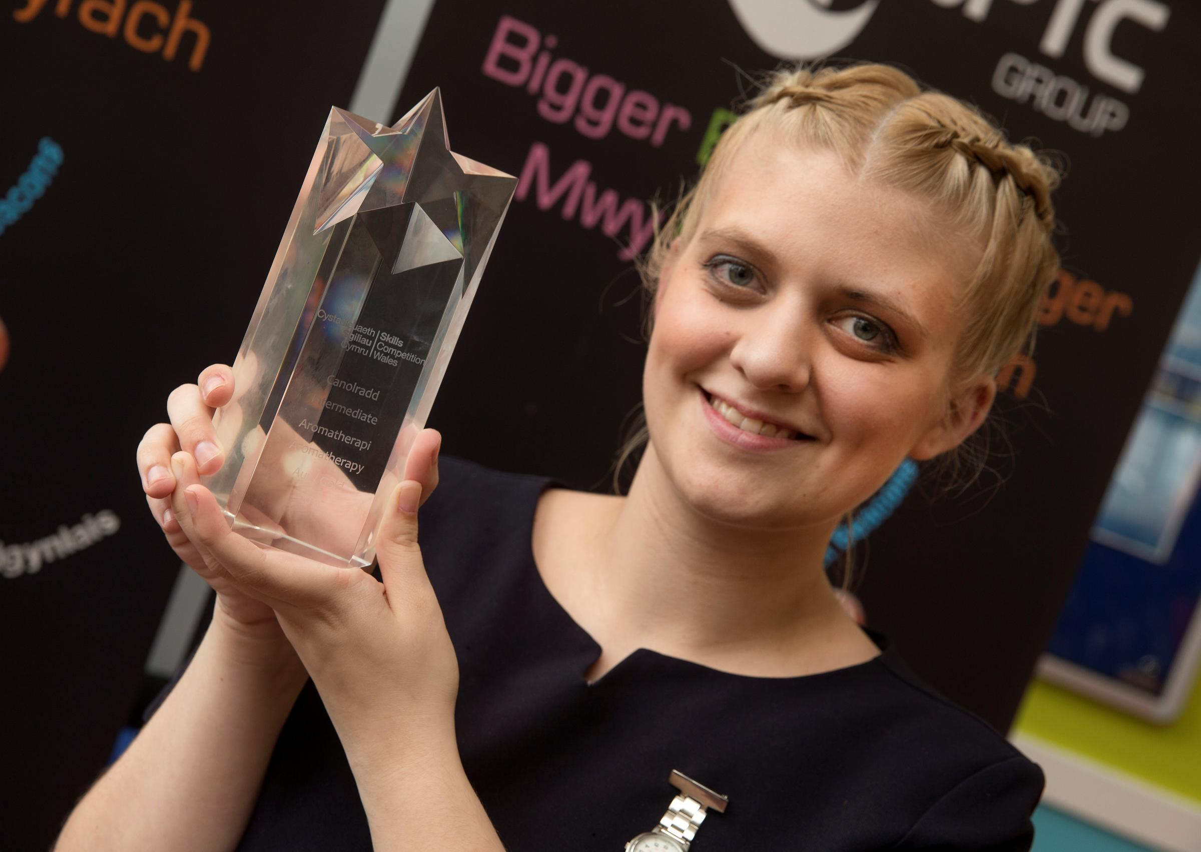 GOLDEN TOUCH: Demi Hindley, from Neyland, won gold in the Skills Comeptition Wales final. (6005795)