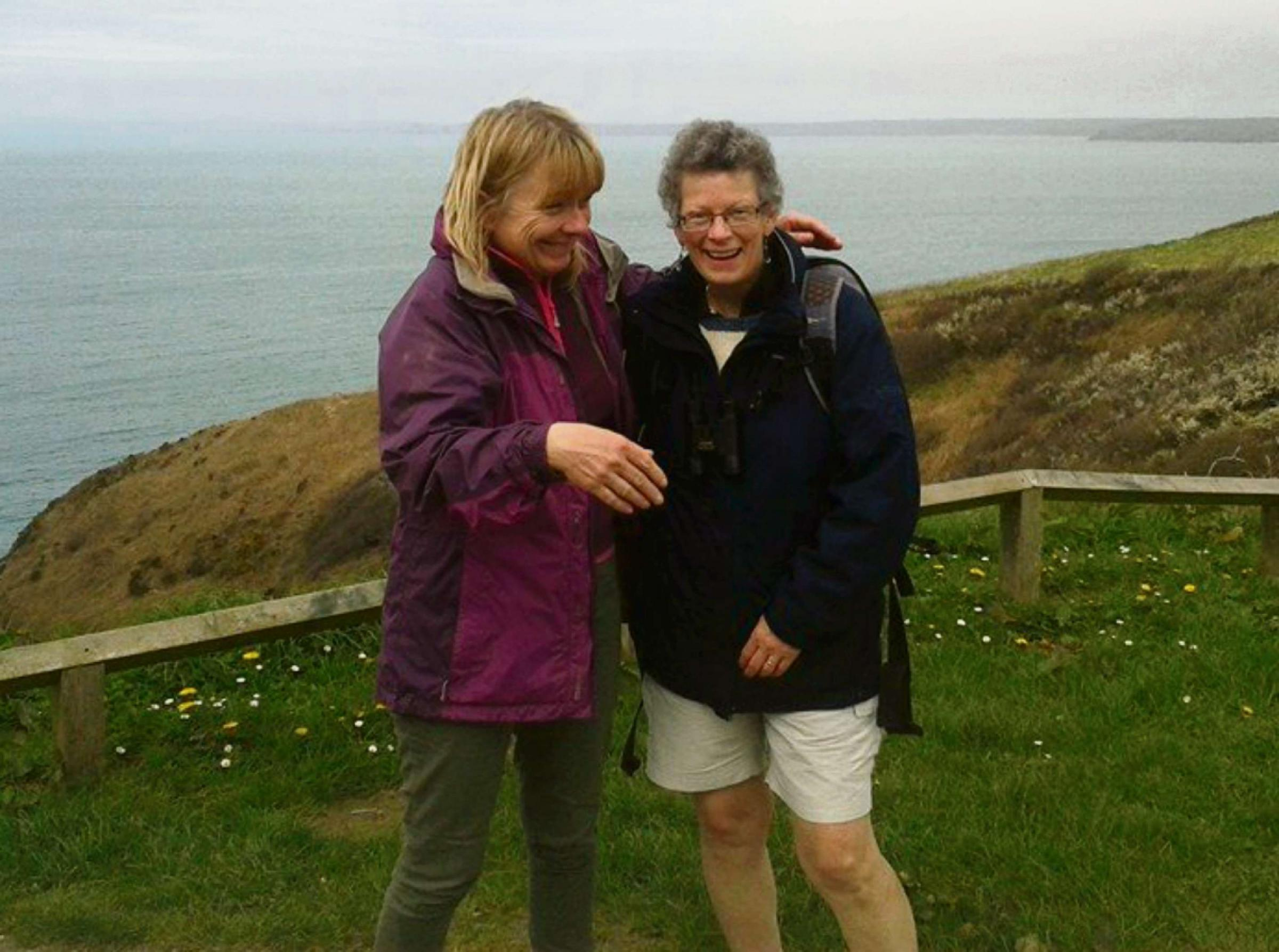 FRIENDSHIP WALK: Alison and Lyn will be walking the coast path in memory of Helen Durham.