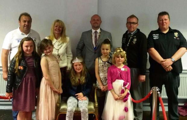 CROWNING GLORY: Members of Milford Haven Round Table with the lucky winners.
