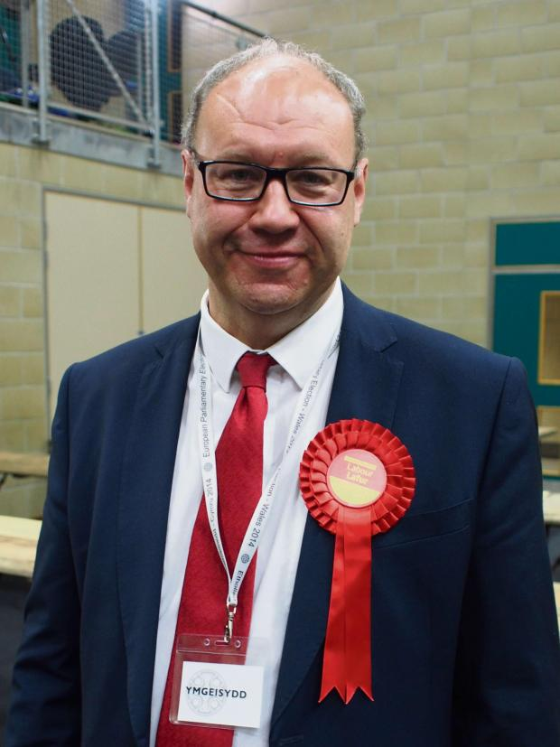 Milford Mercury: NARROW WIN: Labour MEP Derek Vaughan
