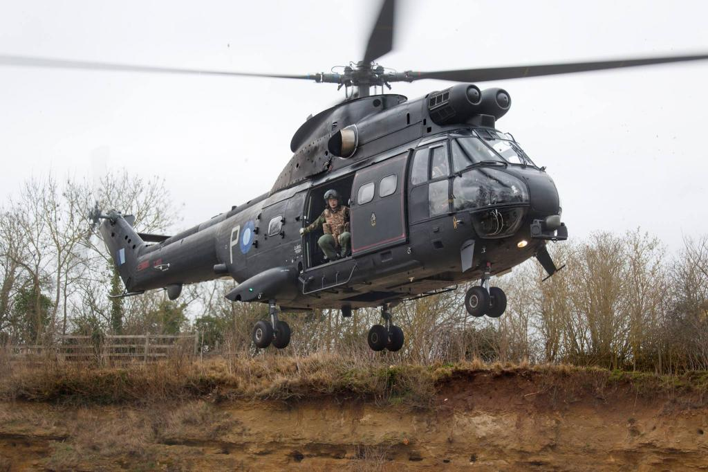 The Puma helicopter is due to visi