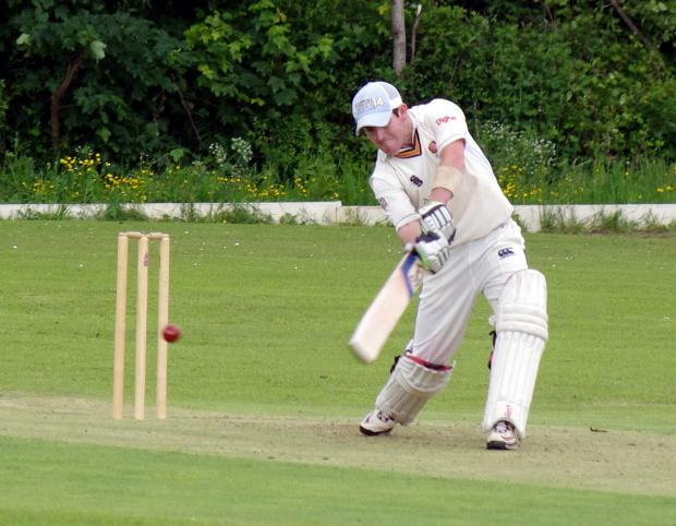 CENTURY MAKER: Lee Summons cracked a brilliant 145 not out for Johnston who beat Pembroke at home. PICTURE: Western Telegraph. (6975987)