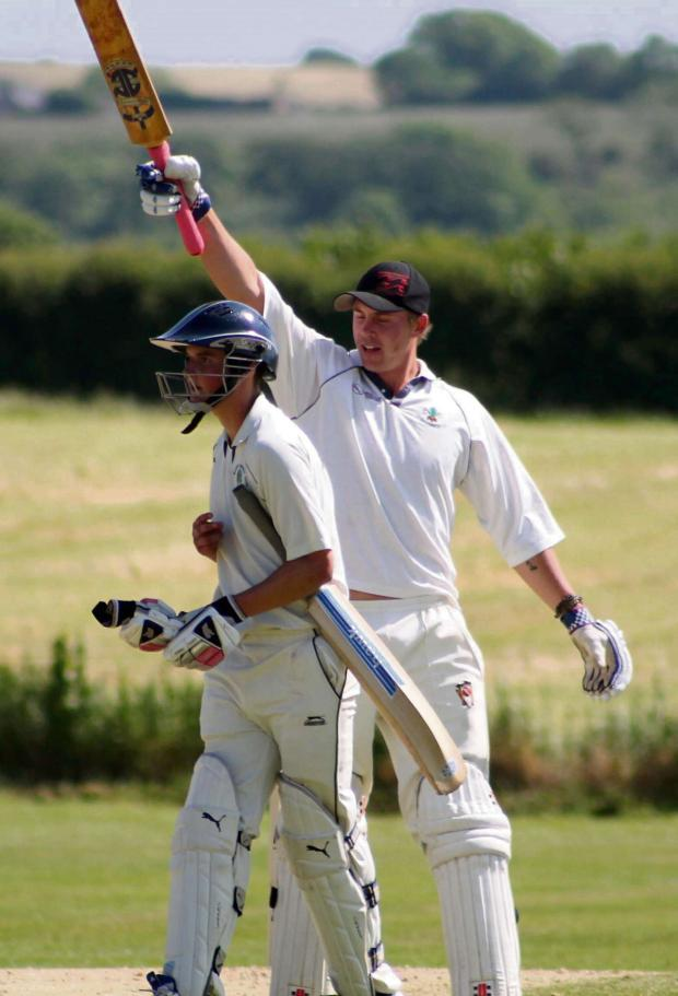 Milford Mercury: CENTURY MAN: Kyle Quartermaine cracked a superb 138 not out for Narberth. (7400893)