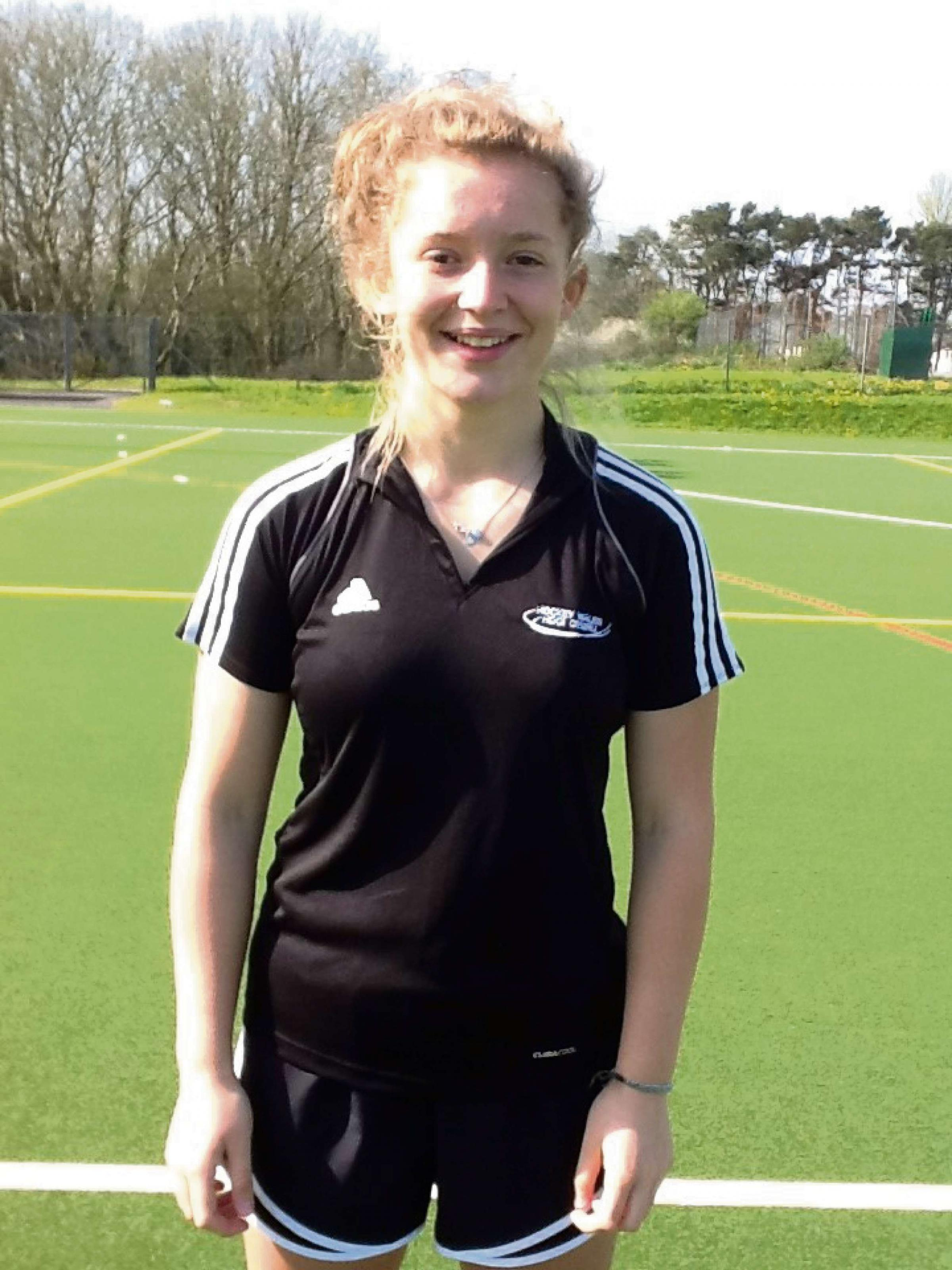 GIRL POWER: Ellie Codd has been selected for Hockey Wales under-16 squad in a test series against Ireland in Dublin. (7586764)