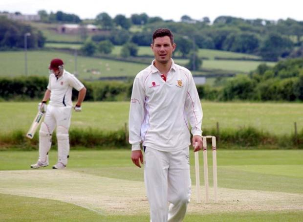 Milford Mercury: FIVE WICKET HAUL: Tim Hicks took five wickets for Carew in their comfortable win at home against Lawrenny. PICTURE: Western Telegraph. (7663112)