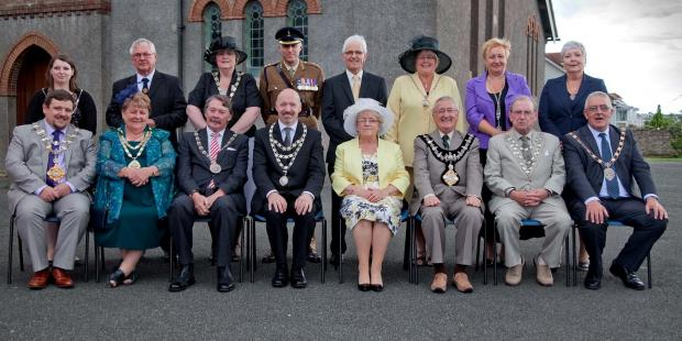 CIVIC SERVICE: Mayor of Neyland Simon Hancock with councillors and representatives. (8239949)