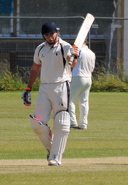 CENTURY MAKER: Ashley Sutton stroked a fantastic century for Neyland. PICTURE: Ian Miller. (8181841)