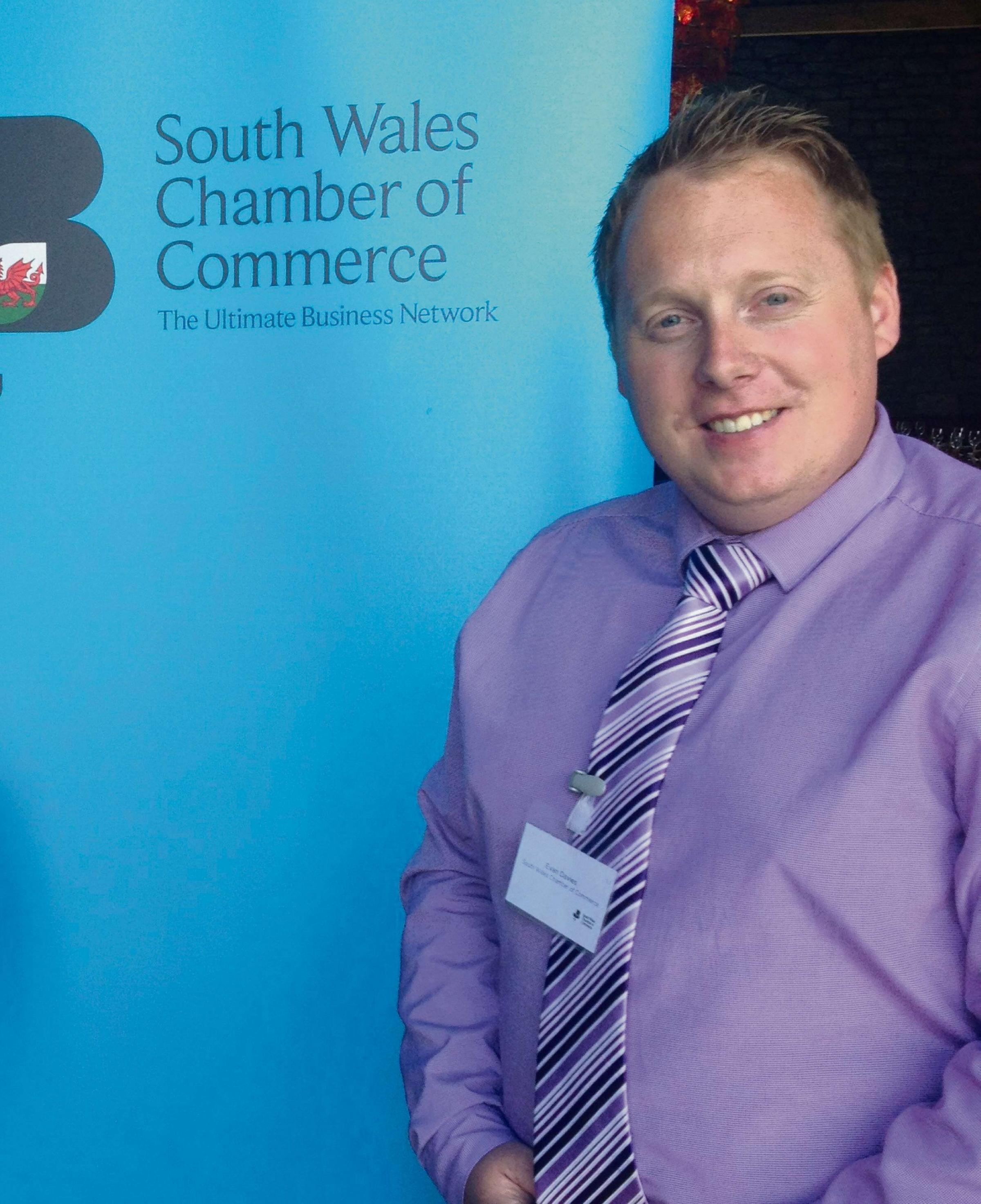 JOINED-UP SUPPORT: Evan Davies, the South Wales Chamber of Commerce's business development officer for Pembrokeshire and Carmarthenshire. (8356152)