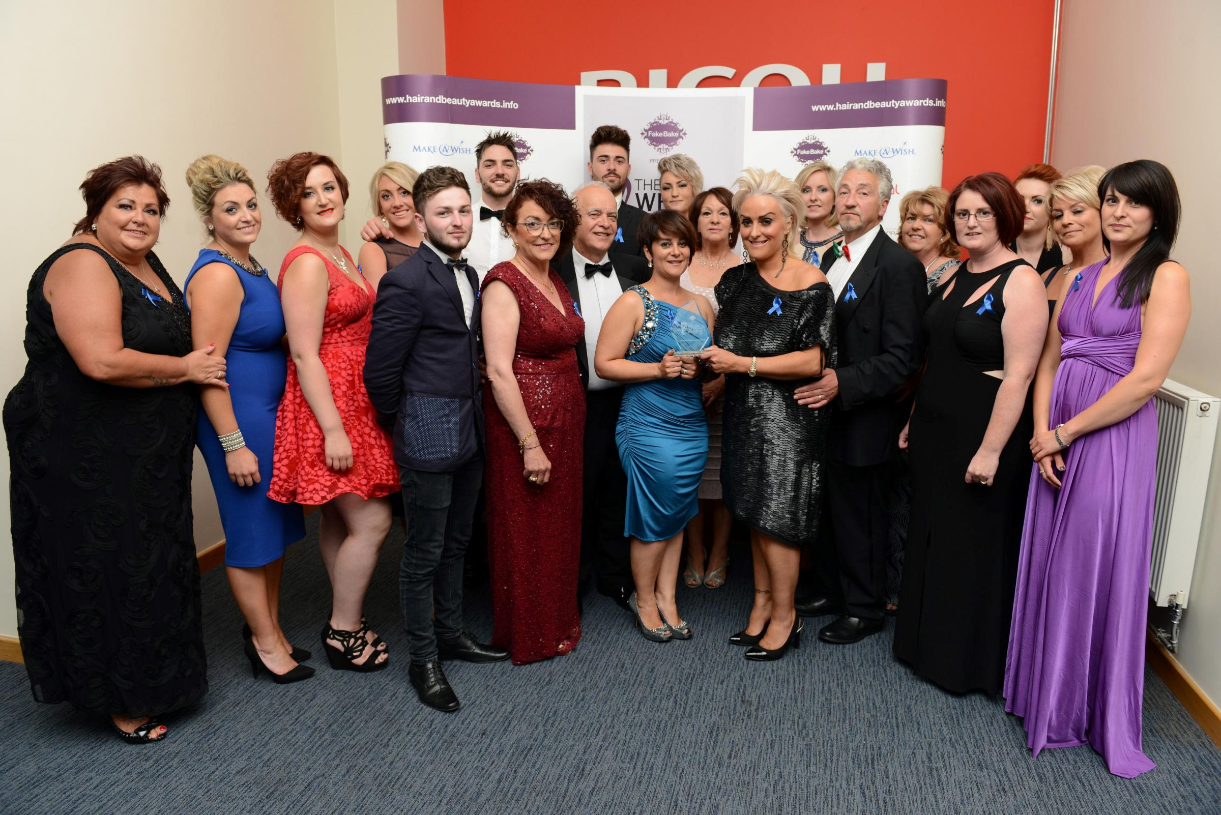 Lifetime achievement accolade: Celebrations at the Welsh Hair and Beauty Awards for Todaro's. (8384138)