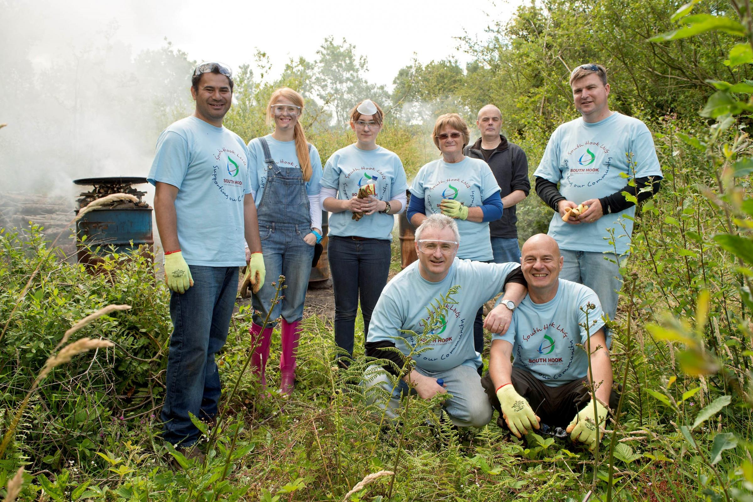 South Hook staff get their hands dirty