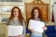 DOUBLE JOY: Kitty (left) and Ellie Bennett achieved 18 A*'s and four A's between them.