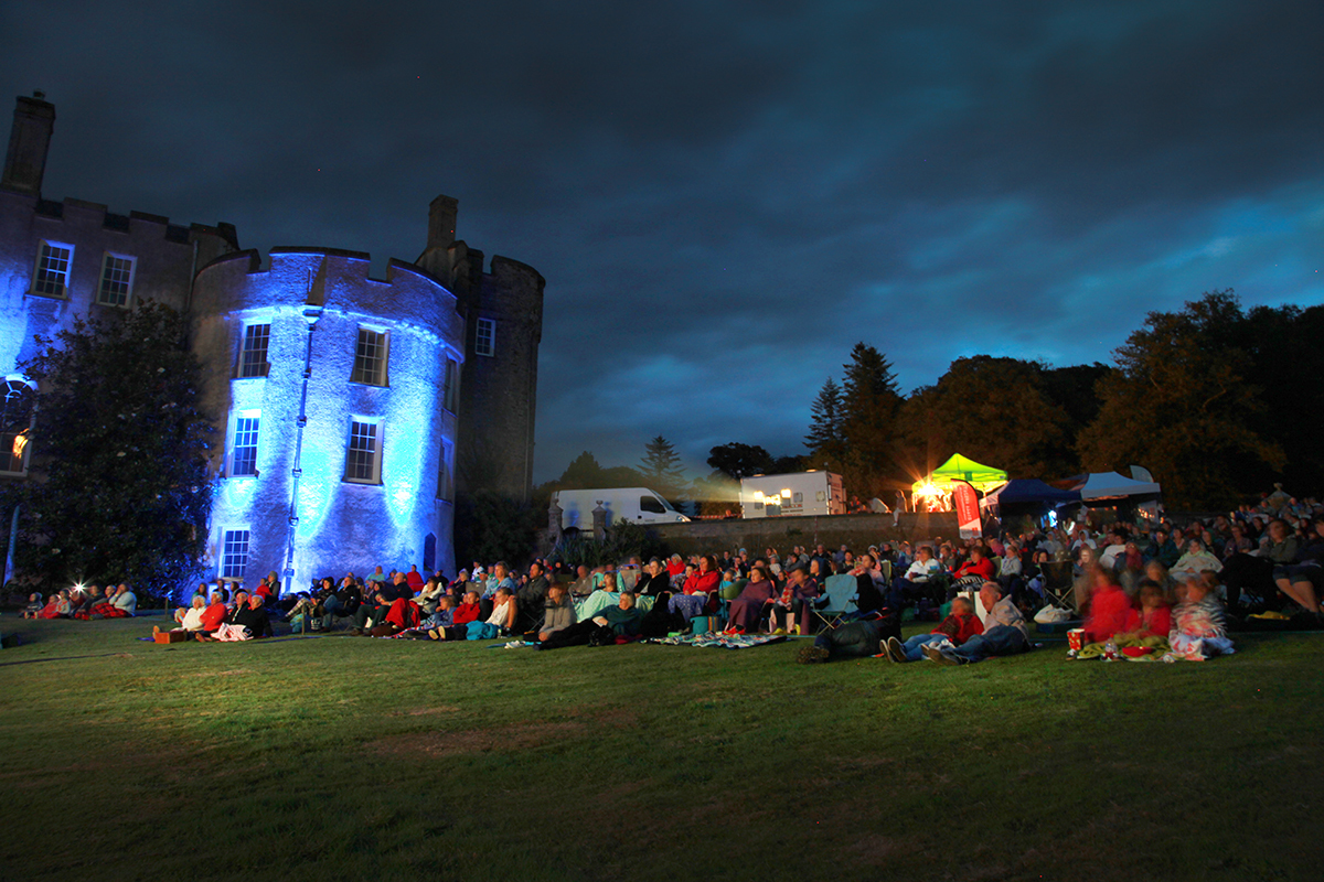 AFTER DARK: Picton Castle was the setting for a screening of Mamma Mia!
