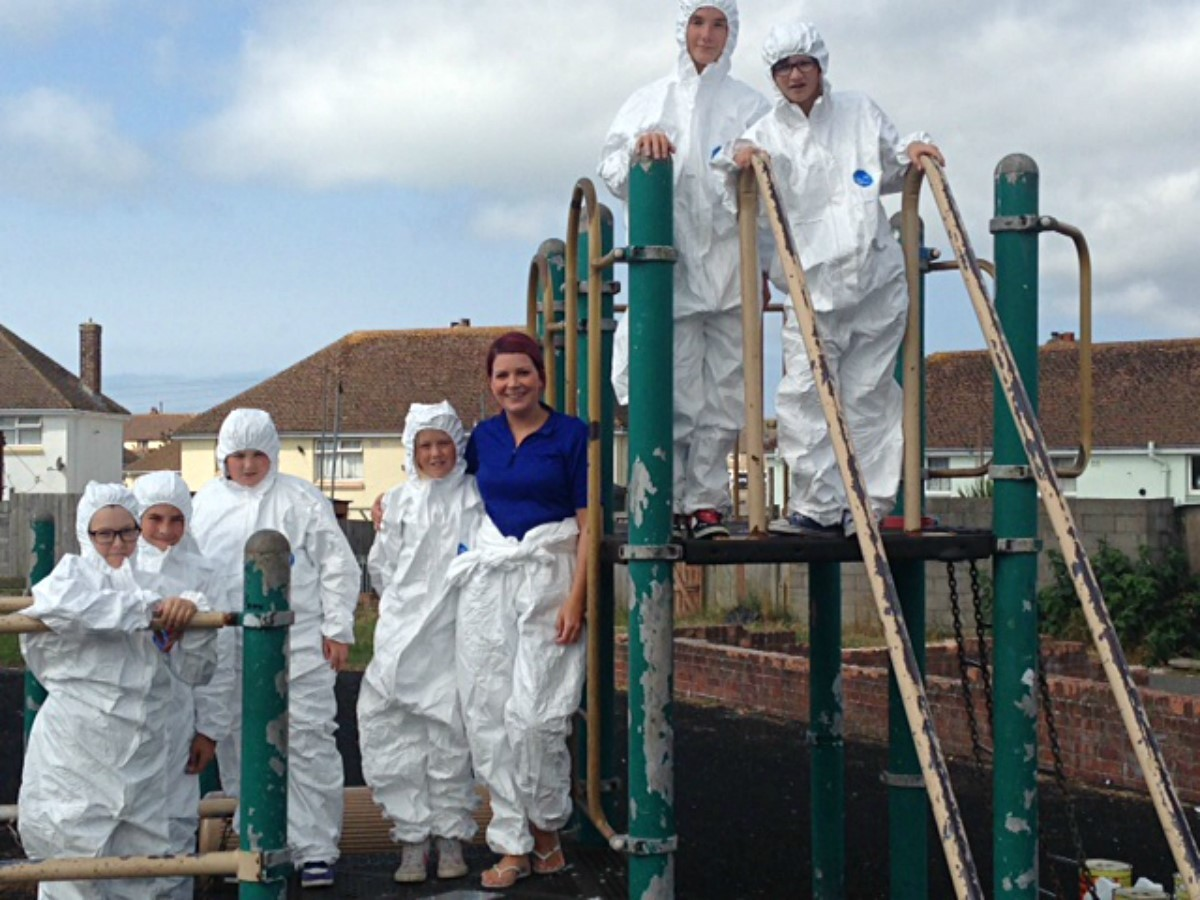 Children can play on thanks to PCSO's paint project