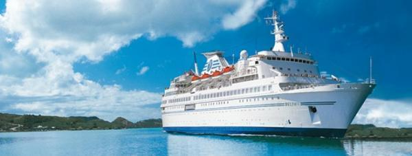 The MS Delphin will be alongside at Pembroke Port all day today (Saturday).