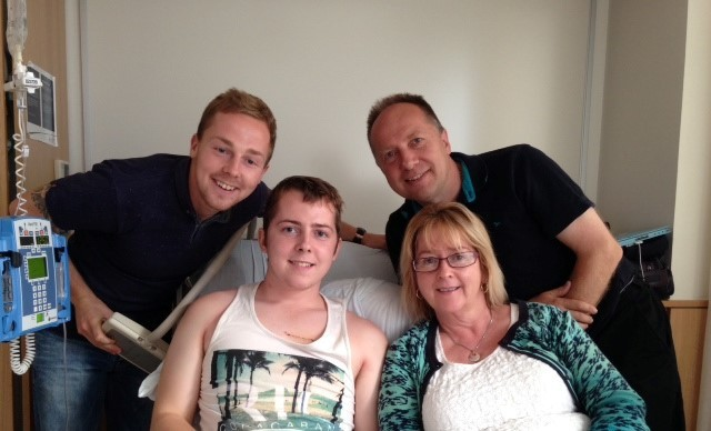 FAMILY UNITED: Sam and Tim Mills with parents Alison and Aaron. (9843140)