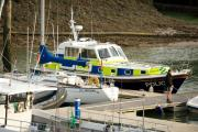 The Dyfed-Powys Police boat at Neyland marina. PICTURE: Lisa Soar.