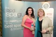 PRIDE OF WALES: Bluestone's Pamela Joseph collects the Best Spa in Wales award.