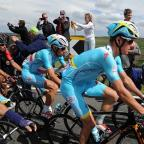 Milford Mercury: Vincenzo Nibali, centre, has been left in limbo