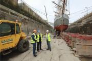 MP Stephen Crabb visited Milford Haven's dry dock last week. PICTURE: S (21598313)