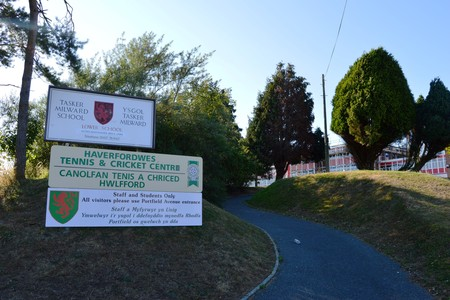 The mobile school village will be based at the former Tasker Milward School site in Haverfordwest.