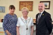 Town clerk Jane Clark with new mayor Margaret Brace and deputy Simon Hancock. PICTURE: Martin Cavaney Photography (26615764)