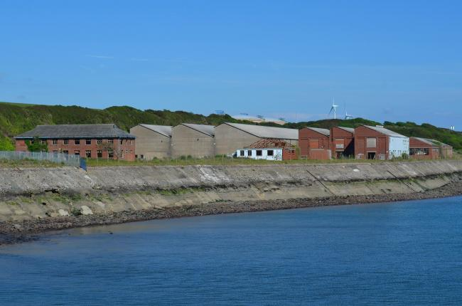 The former mine depot at Milford Haven. PICTURE: Gareth Davies/Hidden Pembrokeshire.