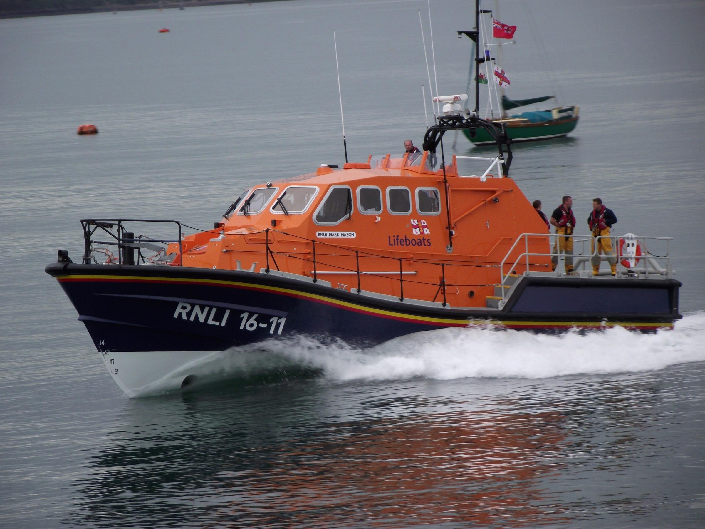Angle's Tamar-class all-weather lifeboat, Mark Mason, was the second-busiest in Wales in 2015. (53690161)