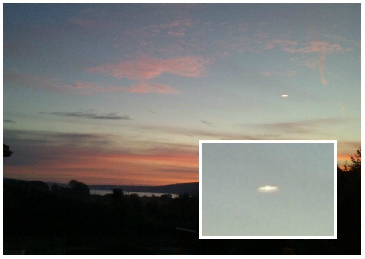 Is this a UFO in the skies of Goodwick?