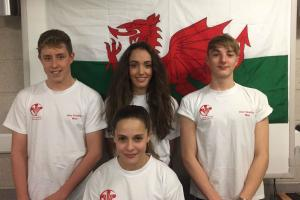 The four Pembrokeshire swimmers who represented West Wales.