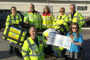 Youngsters at Happy Days in Milford Haven raised £150 for Pembrokeshire Blood Bikes service. PICTURE: Martin Cavaney
