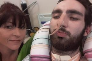 Helen Barnes is urging young people to speak out about mental health after her son Jack has been left brain damaged after attempting to take his own life.