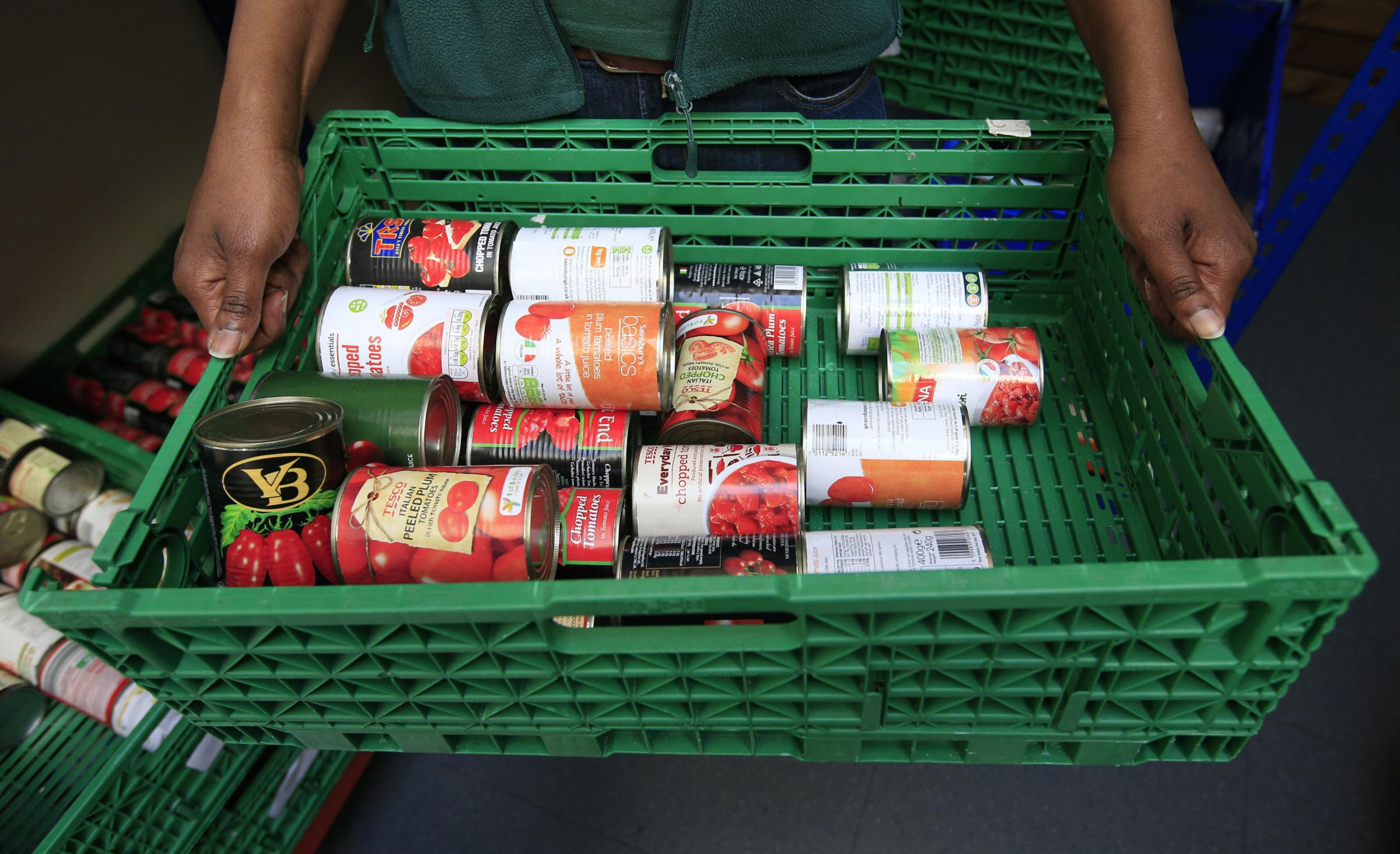 Figures show there is a huge demand for Cardigan Foodbank's services. Picture: Jonathan Brady/PA Wire.