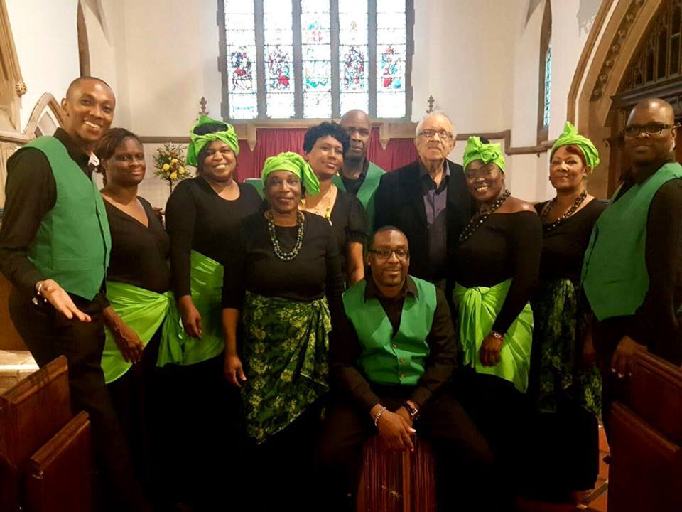 Members of the London-based Alliouagana choir on a previous visit to St Jerome's Church, Llangwm.