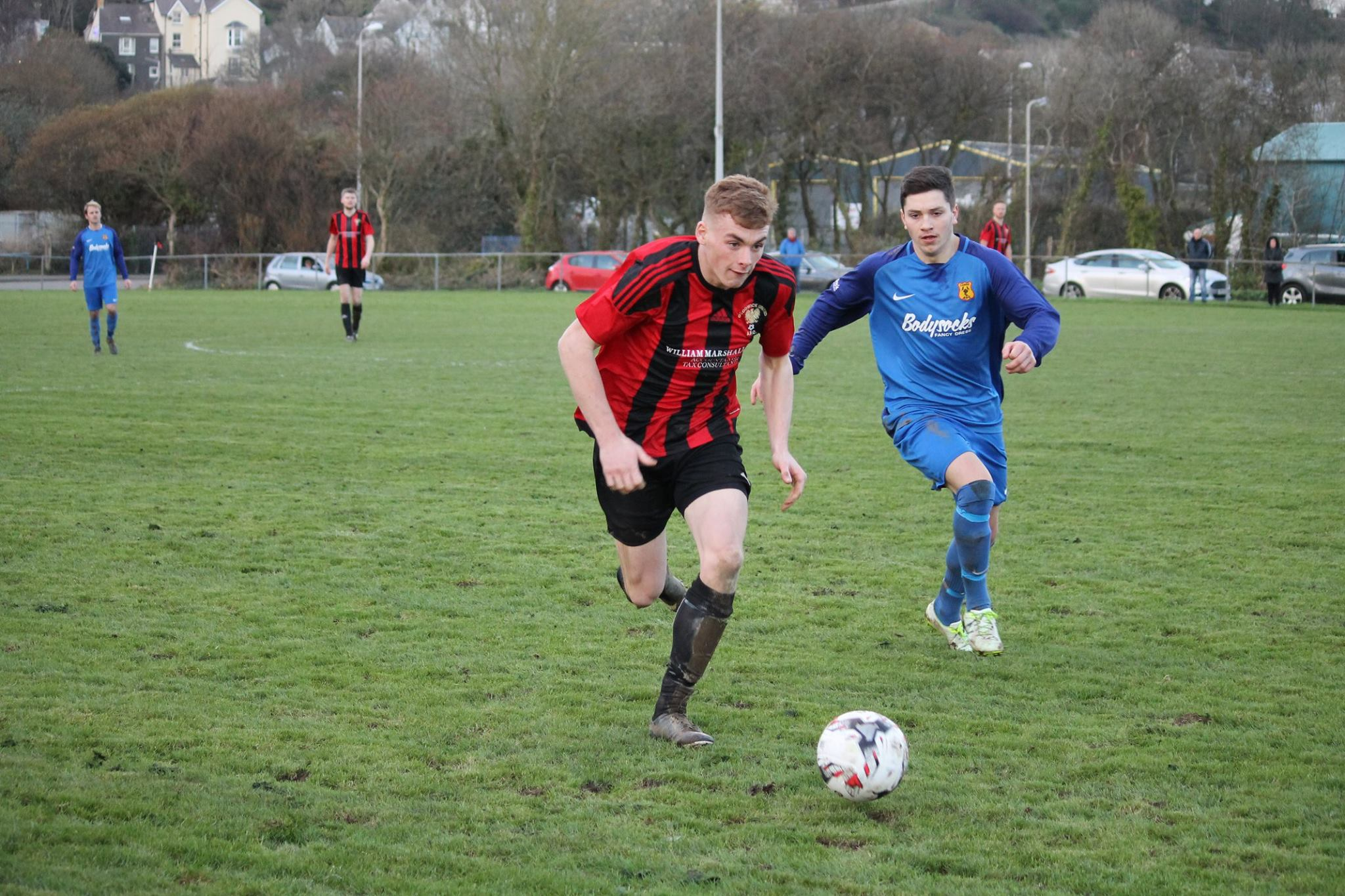 Goodwick host CRC Rangers after beating Carew last week. PICTURE: Andrew Butler.