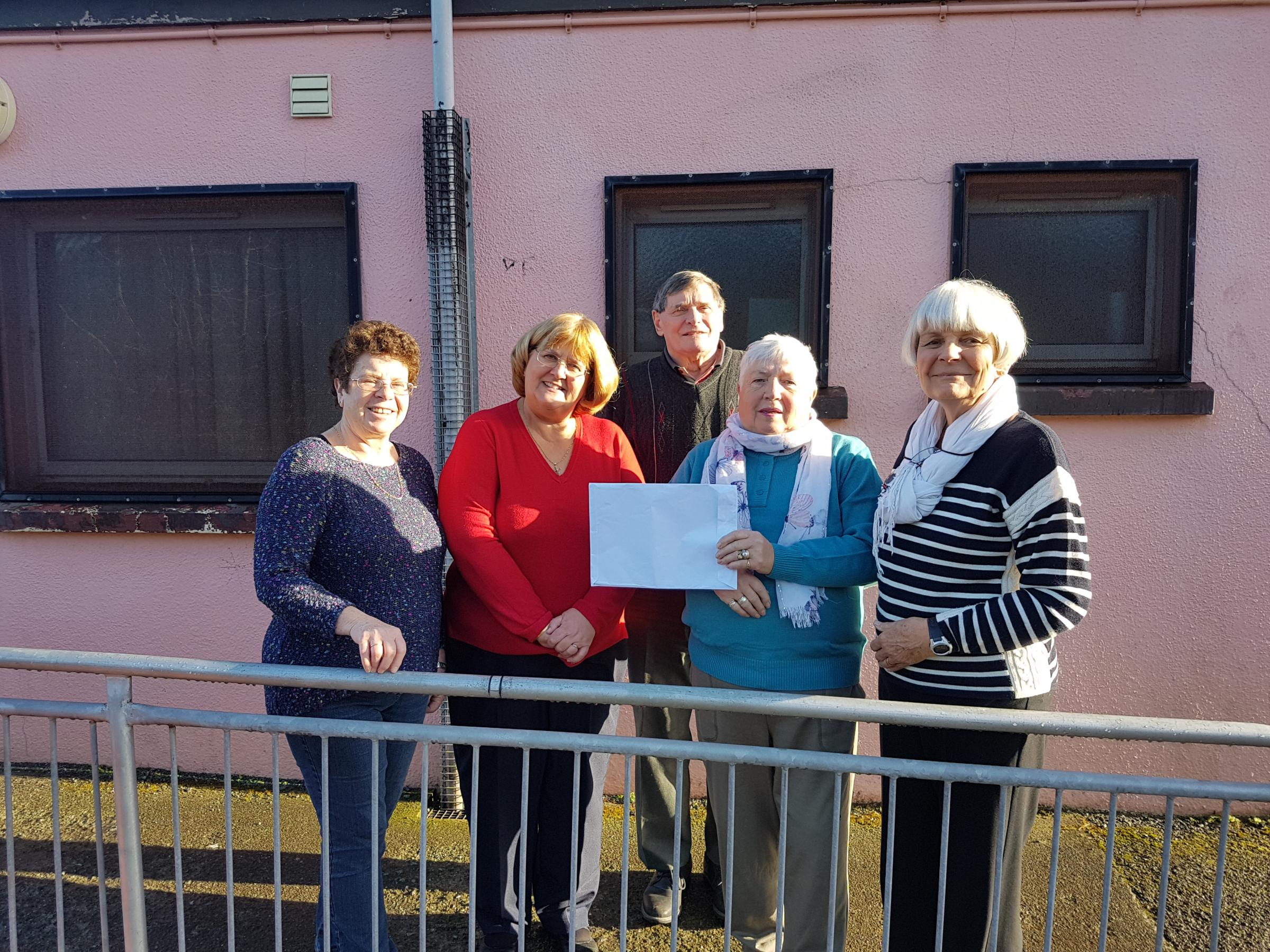 Pictured, having signed the lease, left to right; Norma Barlow, Jackie Davies, Mike Stoddart, Pam McGillivray, and Viv Stoddart