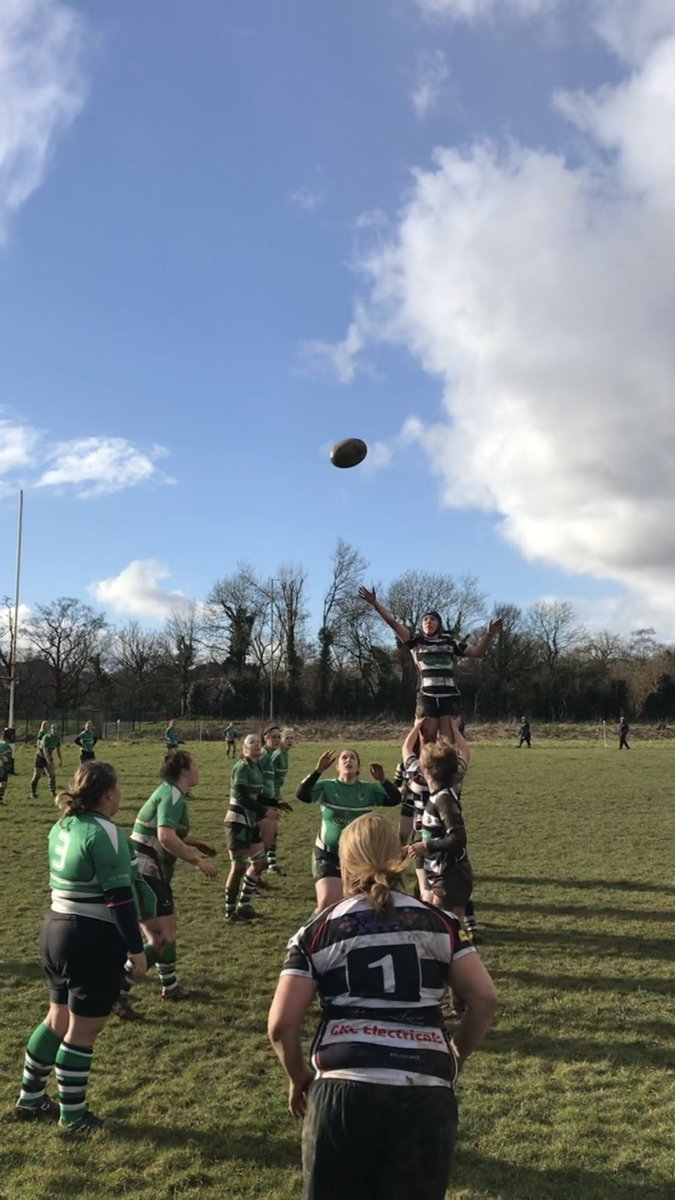 Pontyclun secure good lineout ball against Whitland.