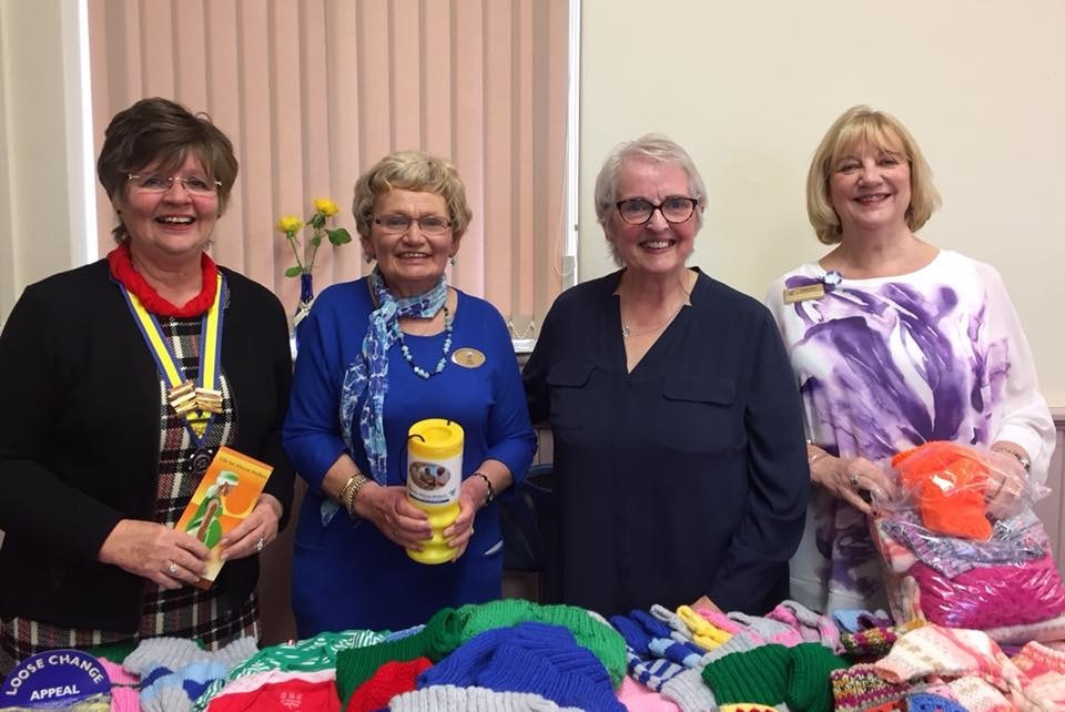 "Lynda Brown (Milford Haven Inner Wheel Club President, Membership Officer and Immediate Past District Chairman), Jean Cooke (International Service Organiser), Angela Gorman (CEO and founder of ""Life for African Mothers""), Daphne Harris (International"