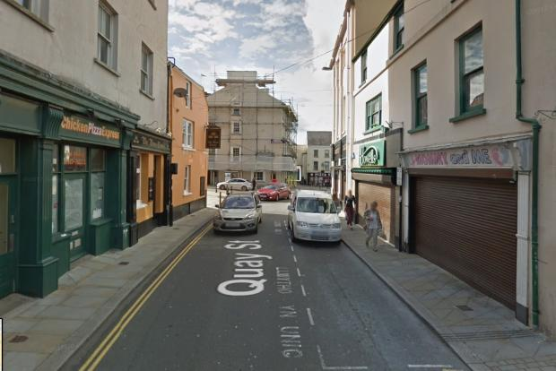 Milford Mercury: The assault took place in Quay Street, Haverfordwest.