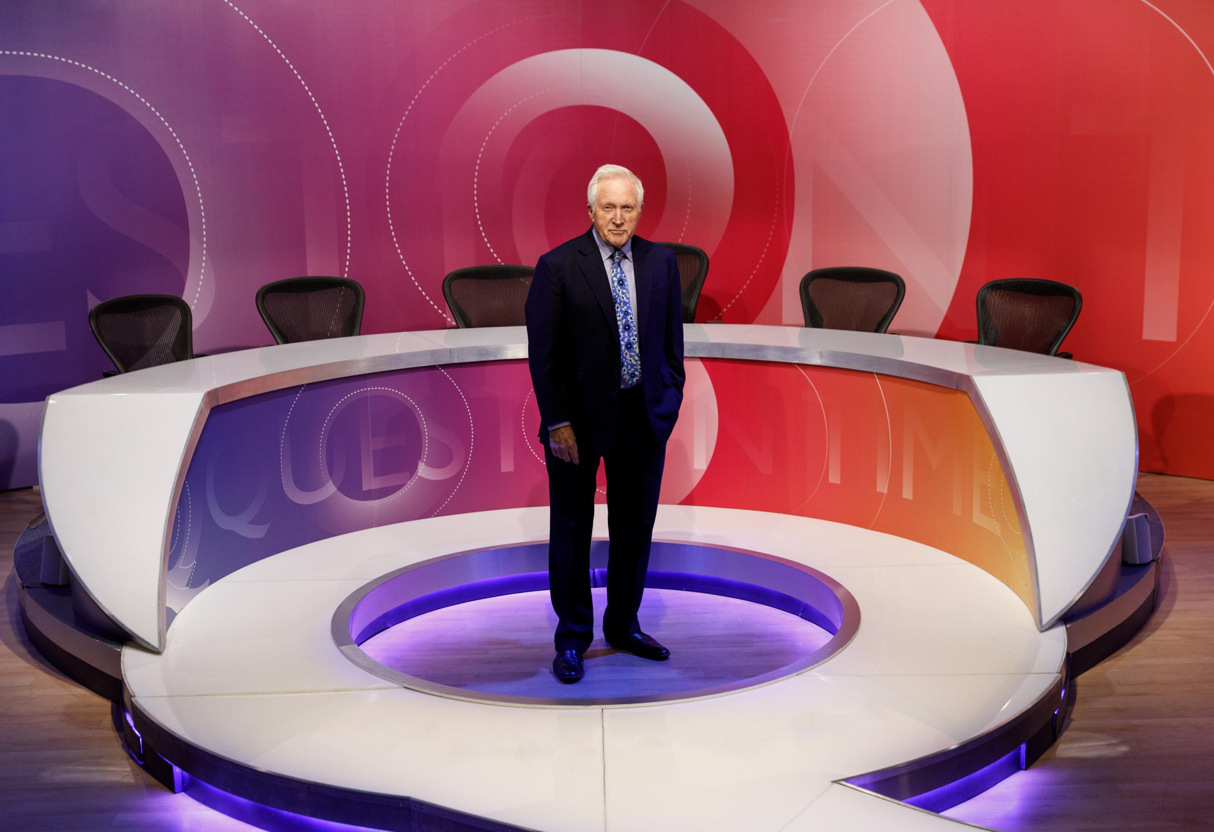 Question Time, hosted by David Dimbleby, is coming to the Torch Theatre. PICTURE: BBC Question Time.