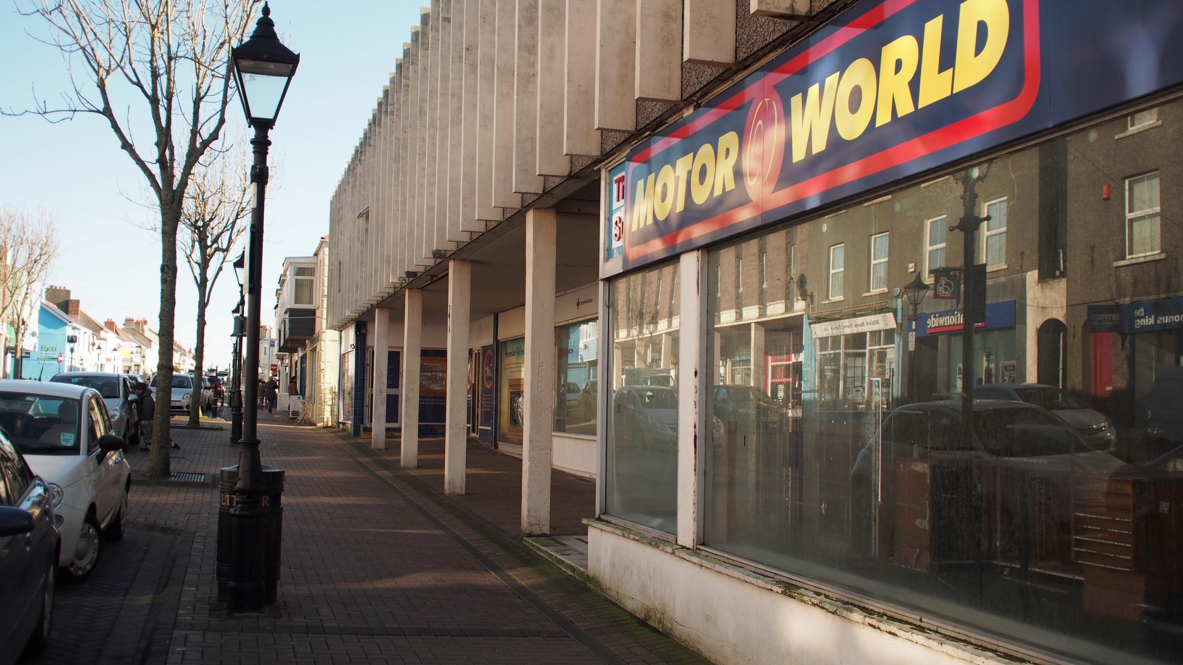 The former Motorworld building, Charles Street, Milford Haven. PICTURE: Milford Mercury
