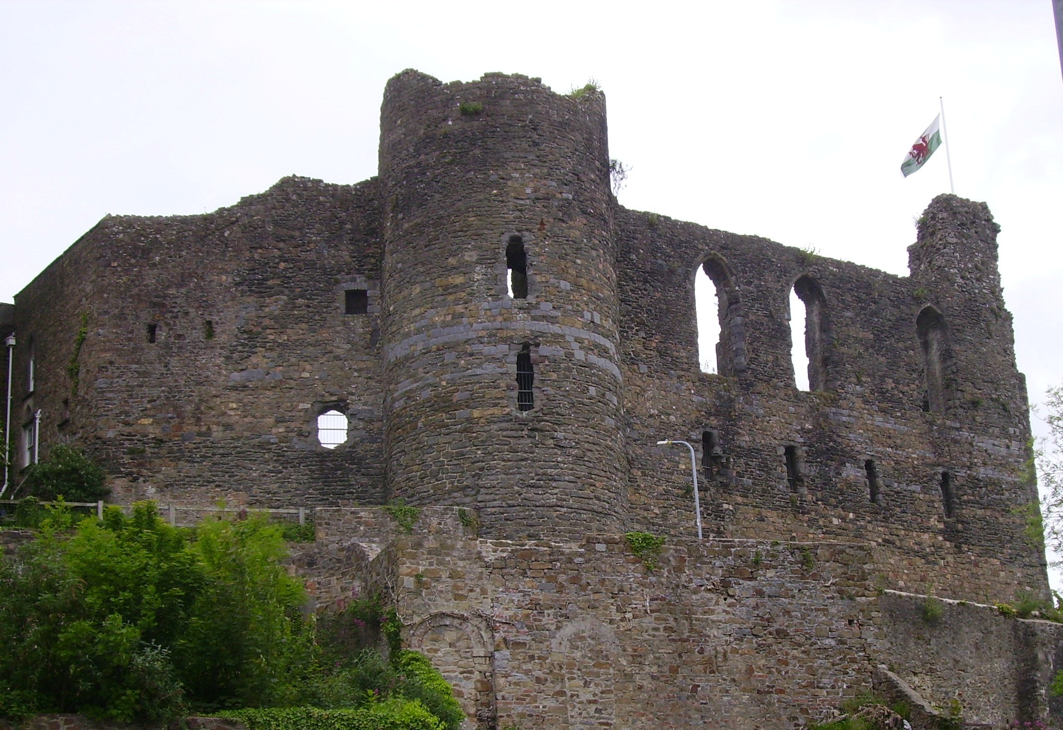 Two children were rescued from Haverfordwest castle on the bank holiday weekend