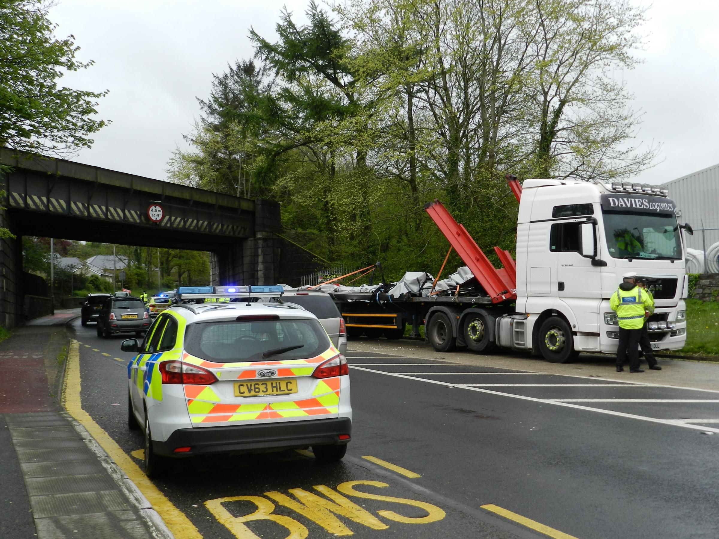 TRAFFIC: Expect delays as lorry hits bridge in Haverfordwest