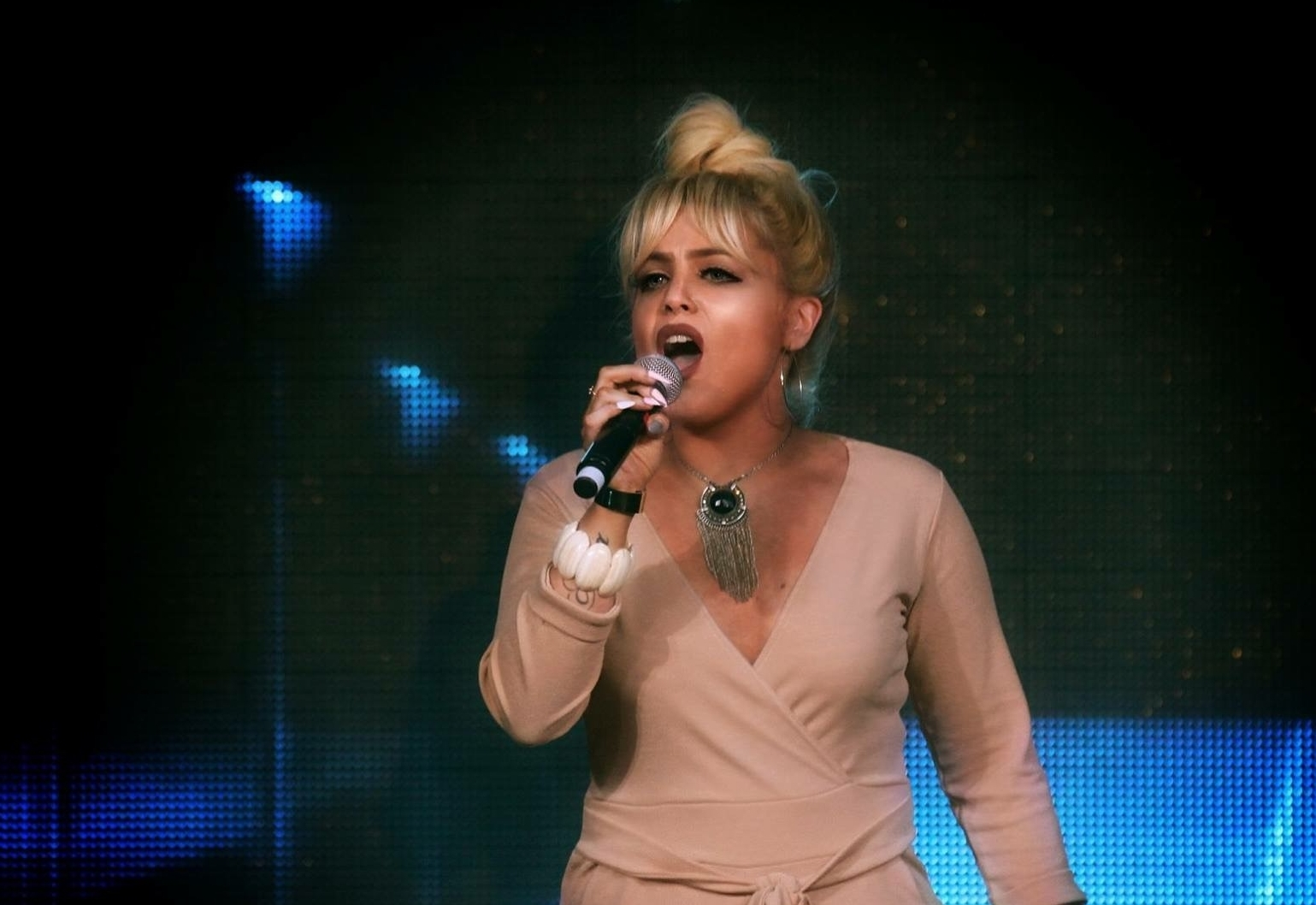 Sophie Maria Adams at the Welsh Factor finals. PICTURE: Welsh Factor