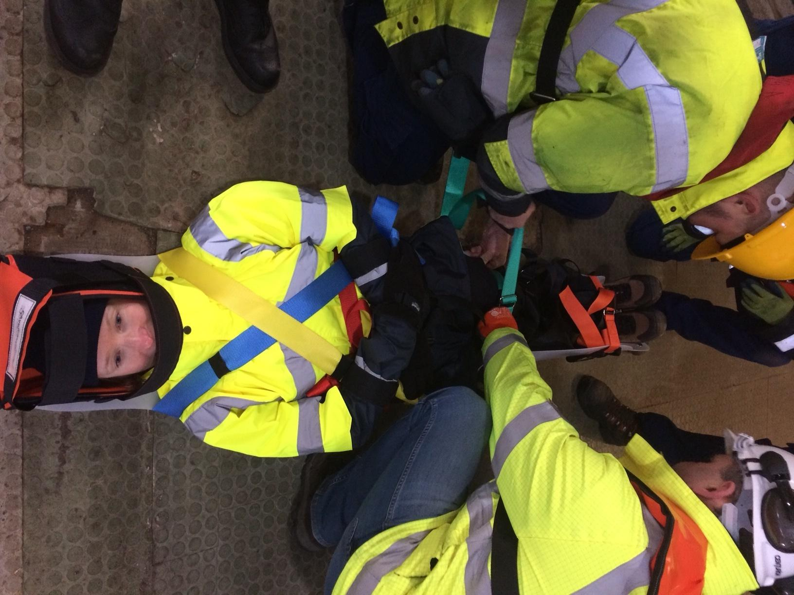 Saviour Stretchers were put to the test during training at the Port of Milford Haven.