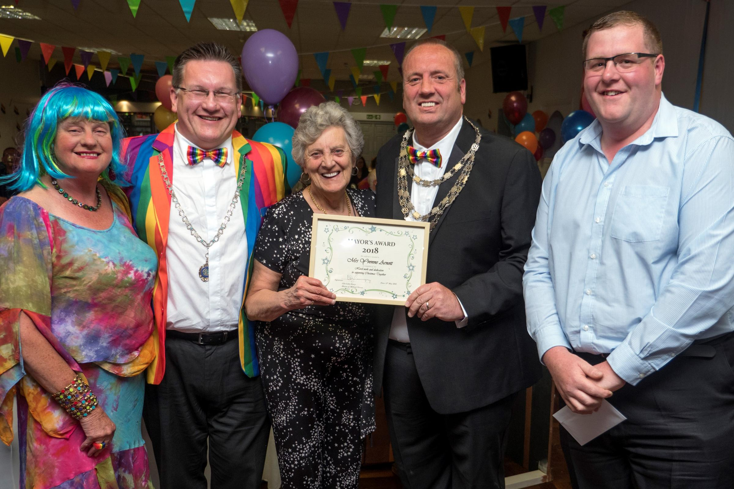 A special award went to Christmas Together volunteer Yvonne Arnott. PICTURE: Milford Mercury.