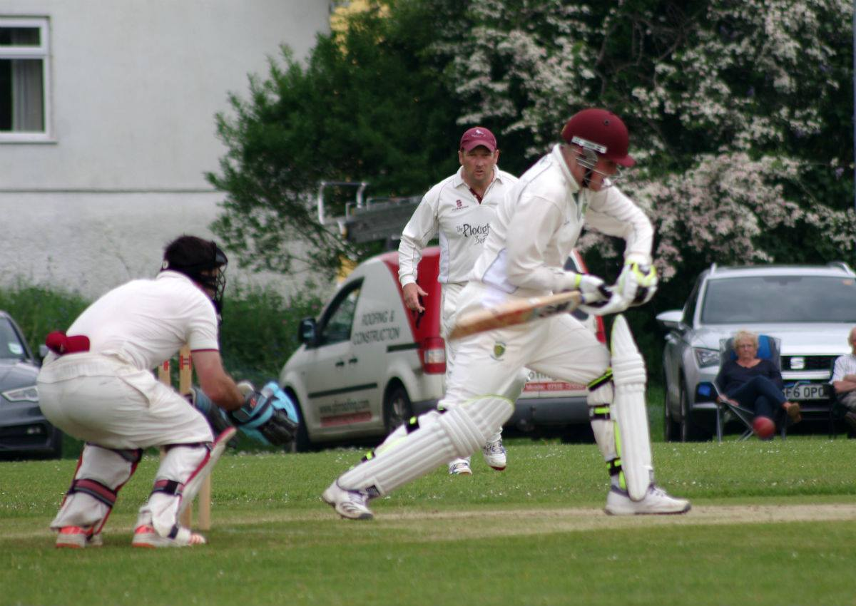 Toby Hayman on his way to a century against Cresselly.