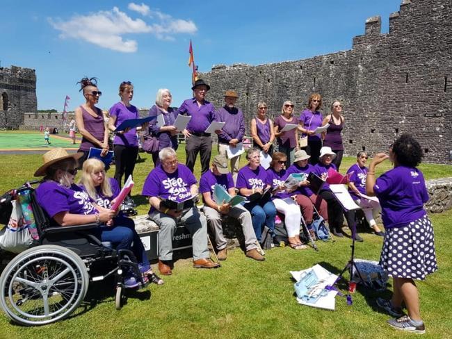 Choir strikes a chord at Pembroke Castle stroke fundraiser | Milford ...
